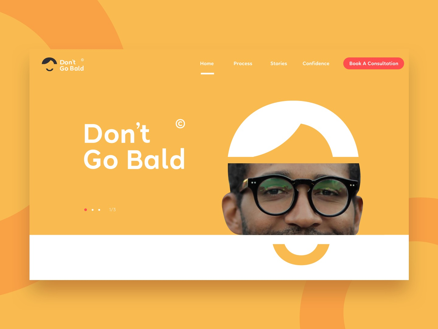 Don't go bald website hero