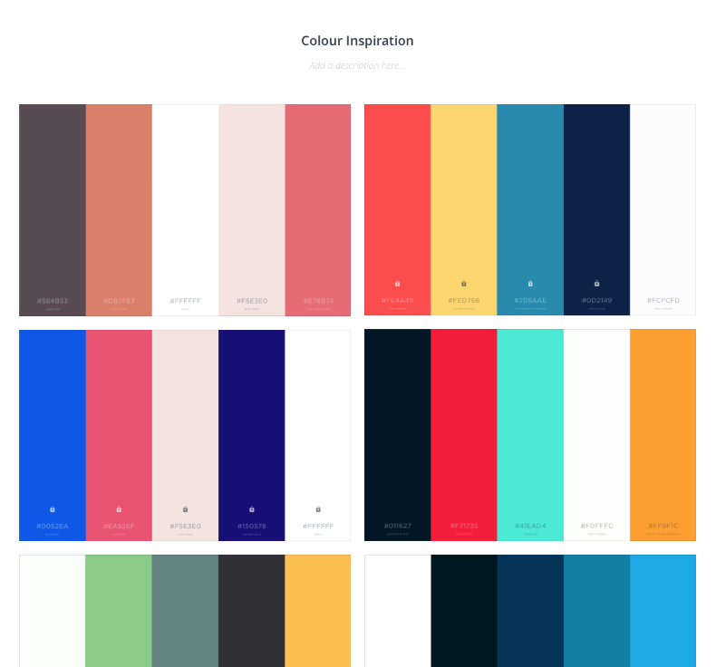 Colour inspiration for new company branding