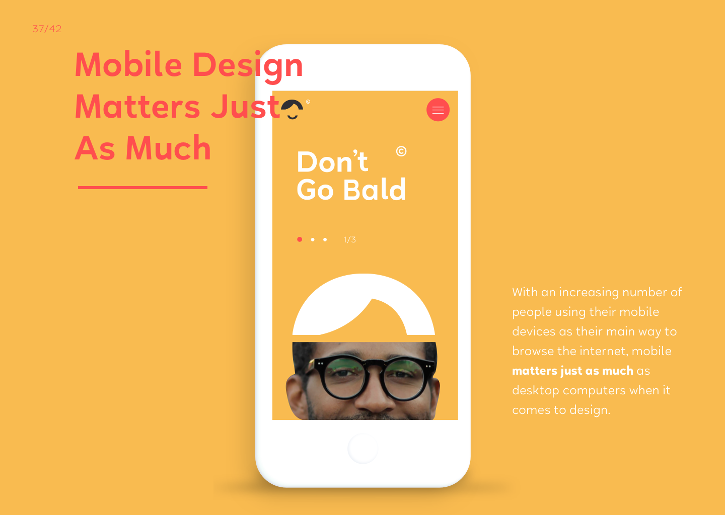 Dont go bald mobile responsive web design
