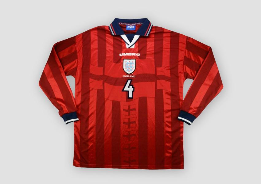 england world cup 1998 kit