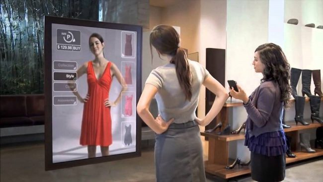 augmented reality dressing room