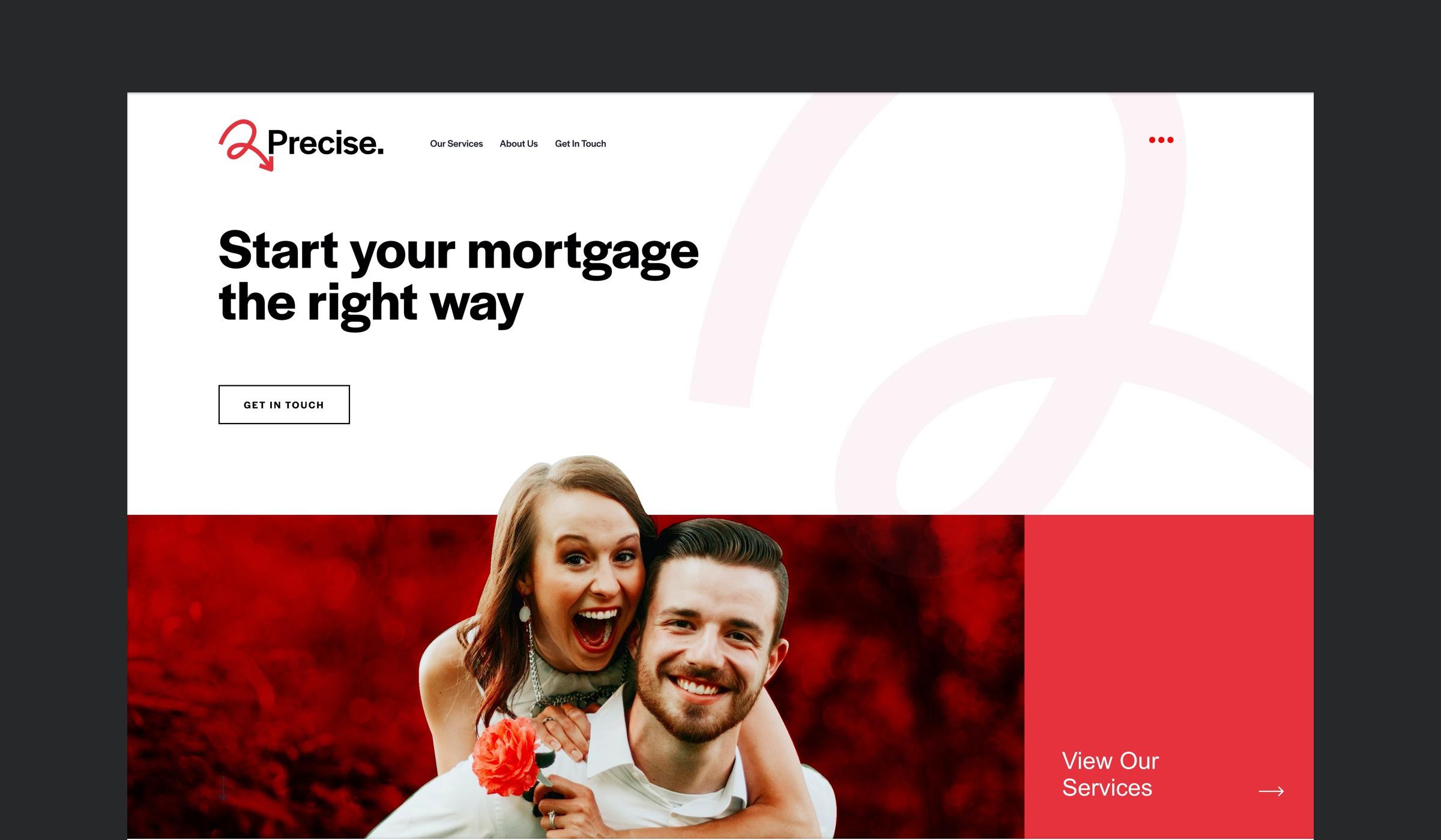 Precise Website Header
