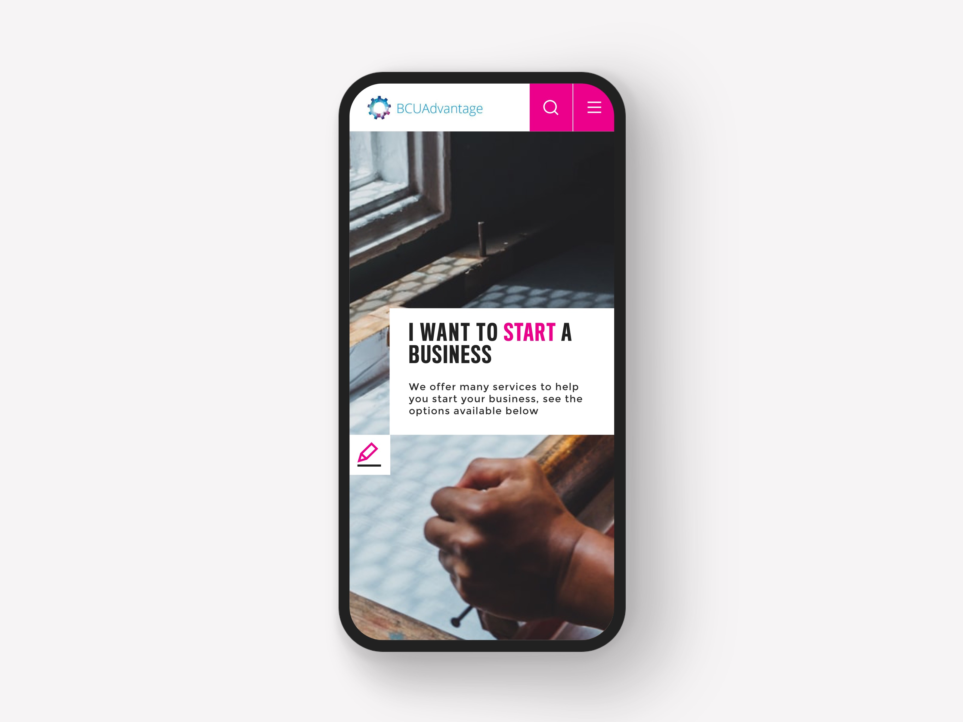 BCU Homepage Mobile