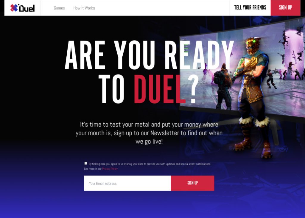 duel gaming website design