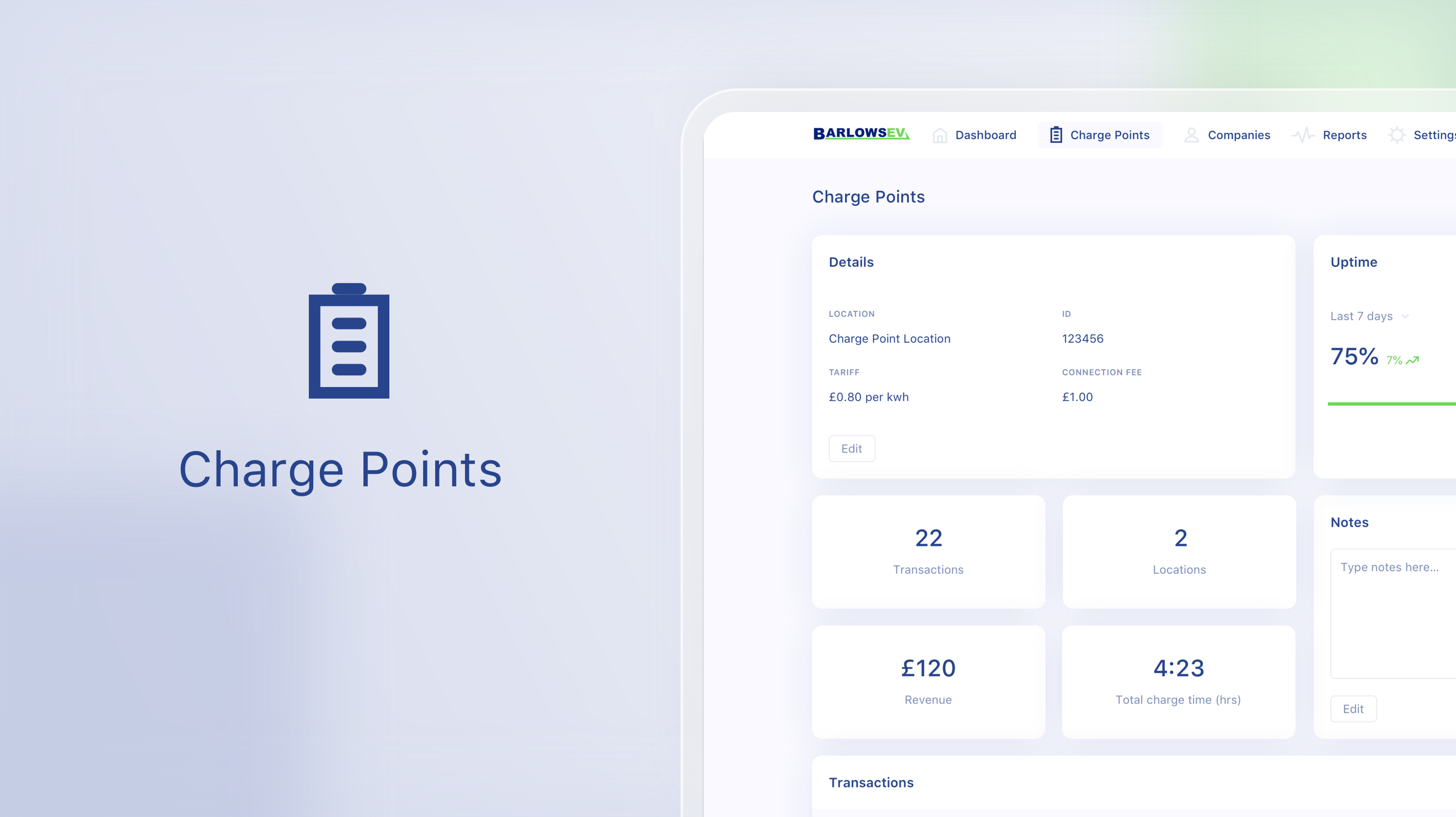 Barlows Software Manage Chargepoints