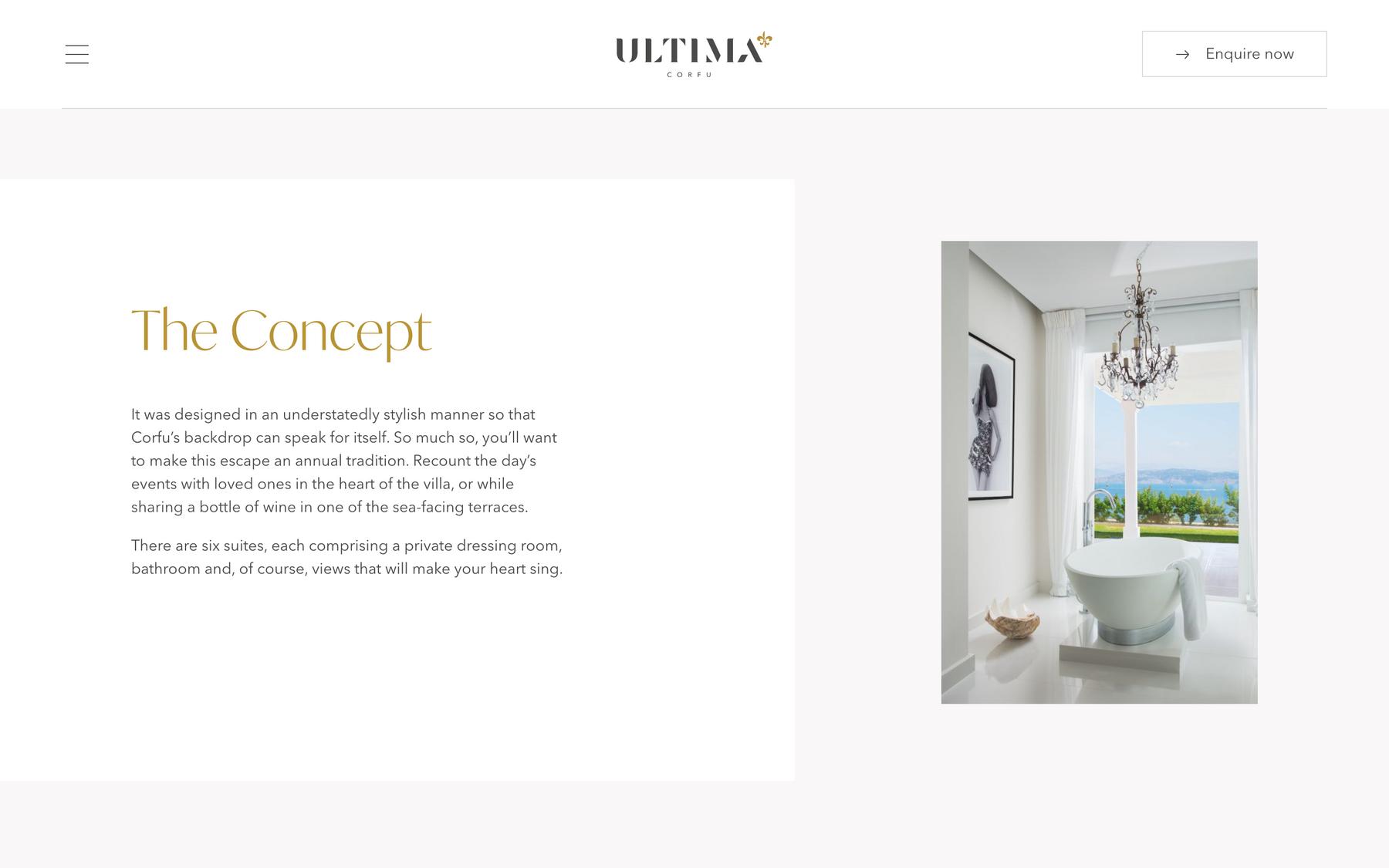 Elegance luxury web design techniques for 2021